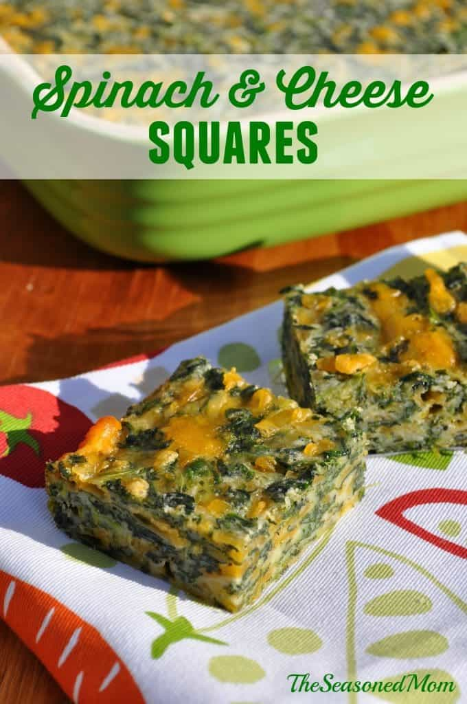 Spinach and Cheese Squares