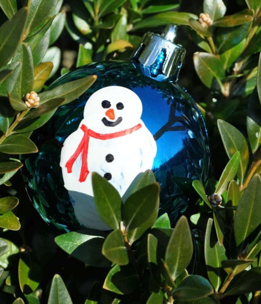 Thumbprint Snowman Ornament 5