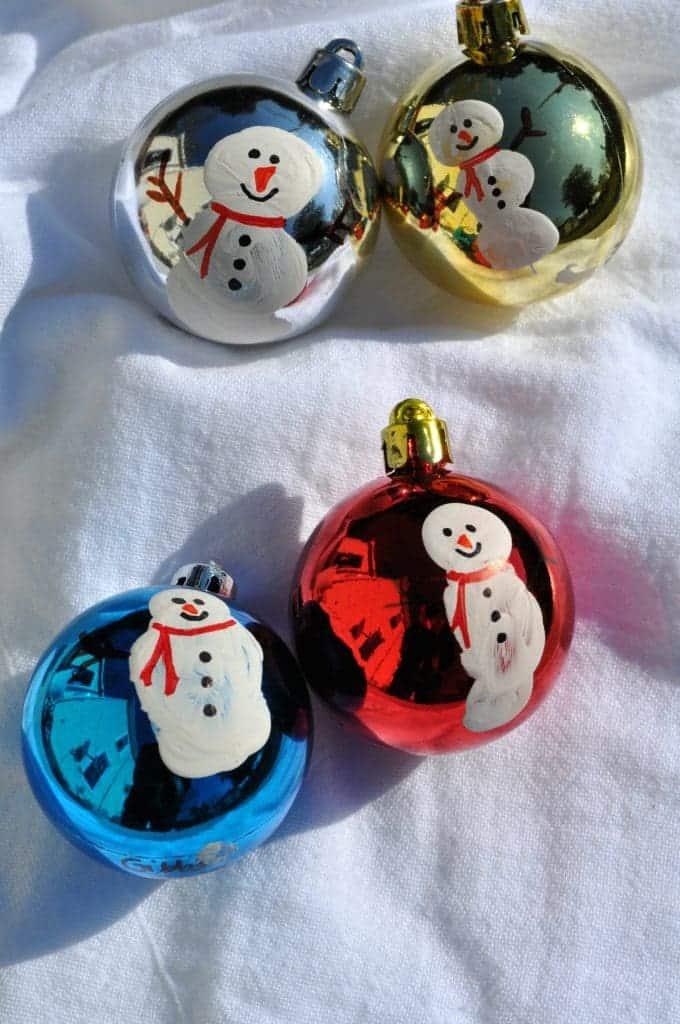 Thumbprint Snowman Ornaments 4