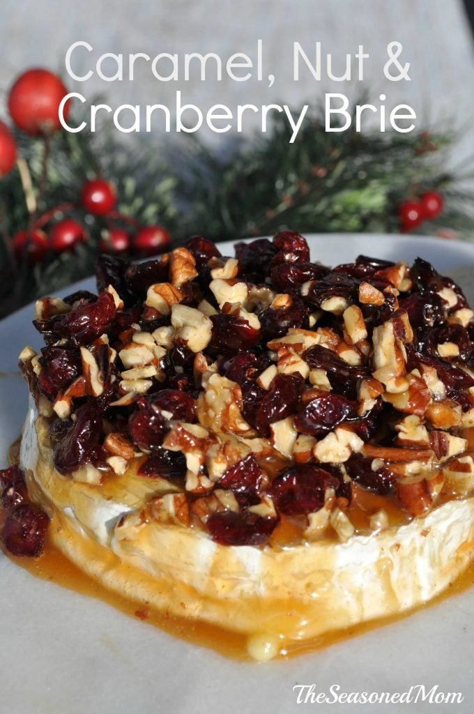 Caramel Nut and Cranberry Brie