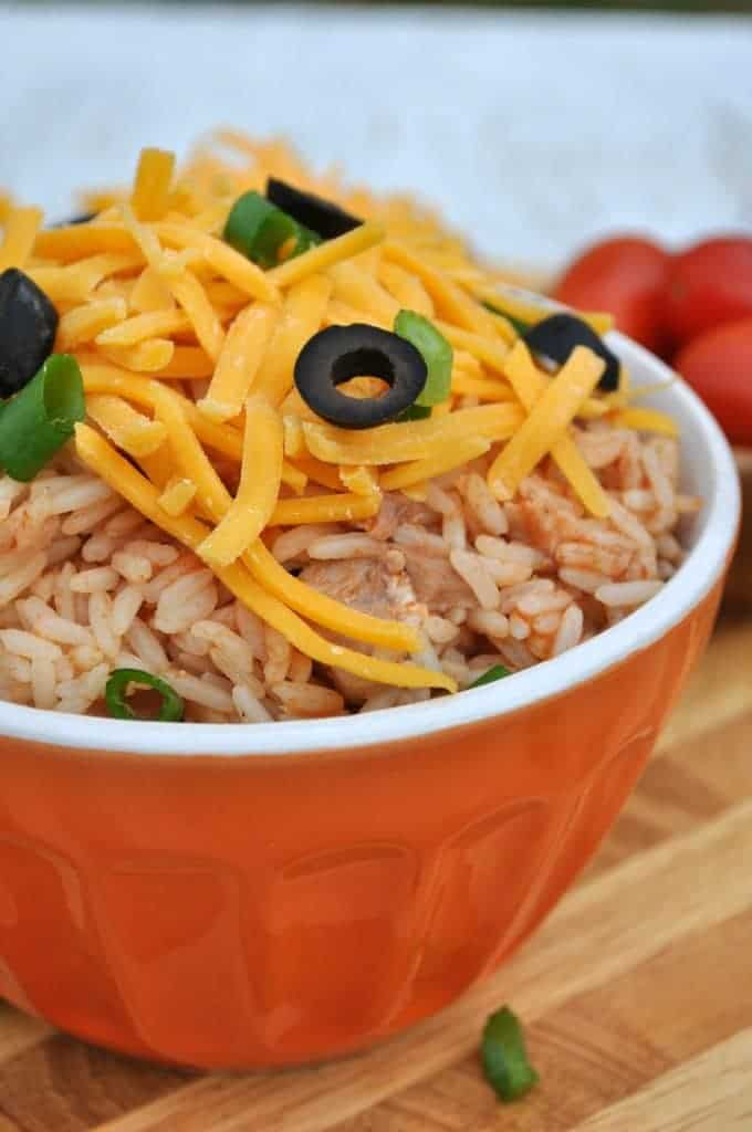 Chicken Taco Rice Bowls 5