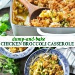Long collage image of Chicken Broccoli Casserole