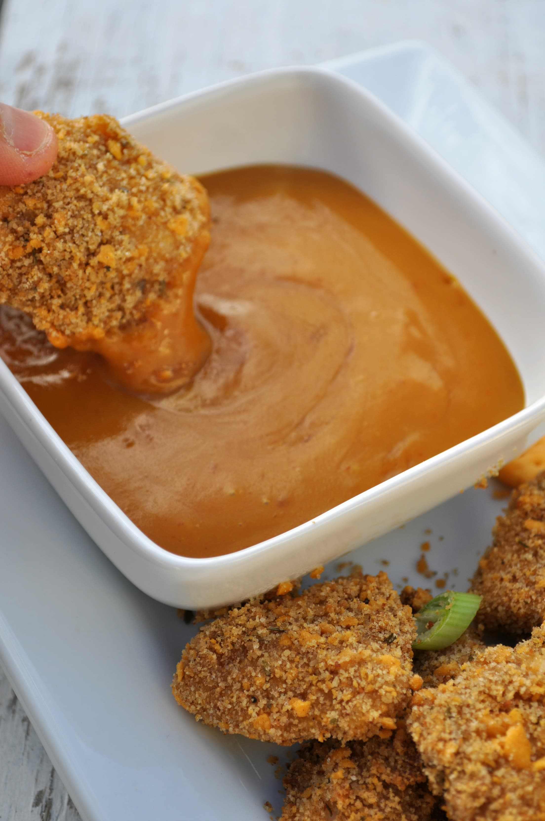 ... Chicken Nuggets with Honey Mustard Dipping Sauce - The Seasoned Mom