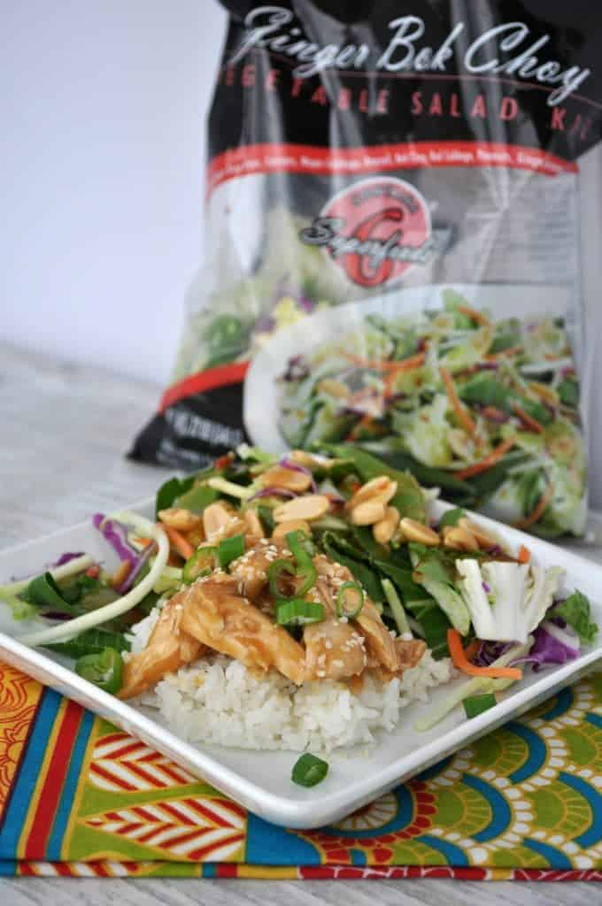 Healthy Slow Cooker Teriyaki Chicken with Ginger Bok Choy Salad 2
