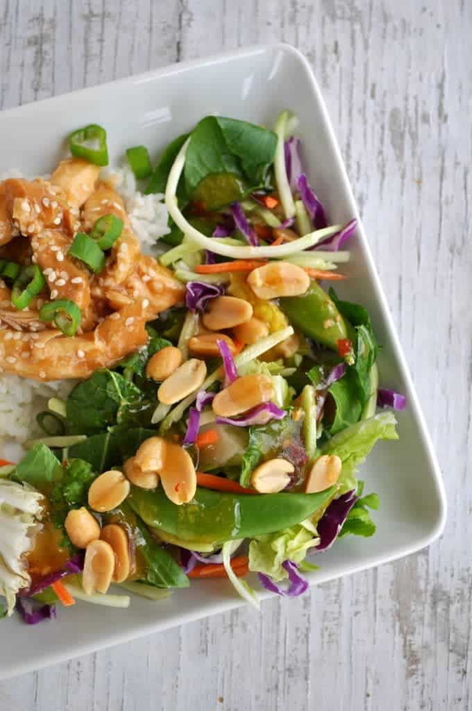 Healthy Slow Cooker Teriyaki Chicken with Ginger Bok Choy Salad 3