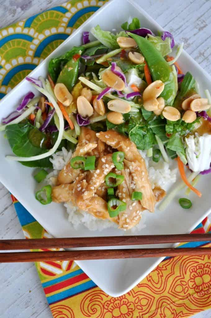 Healthy Slow Cooker Teriyaki Chicken with Ginger Bok Choy Salad 4