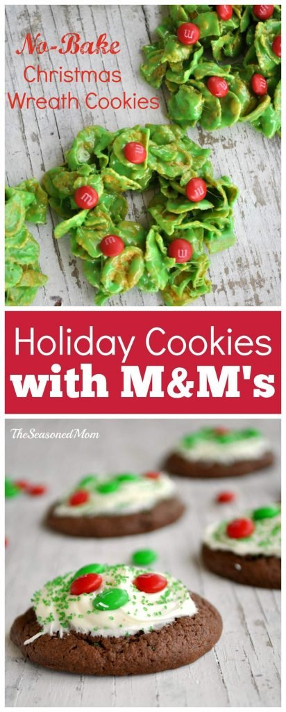 Holiday Cookies with M&M's Candies