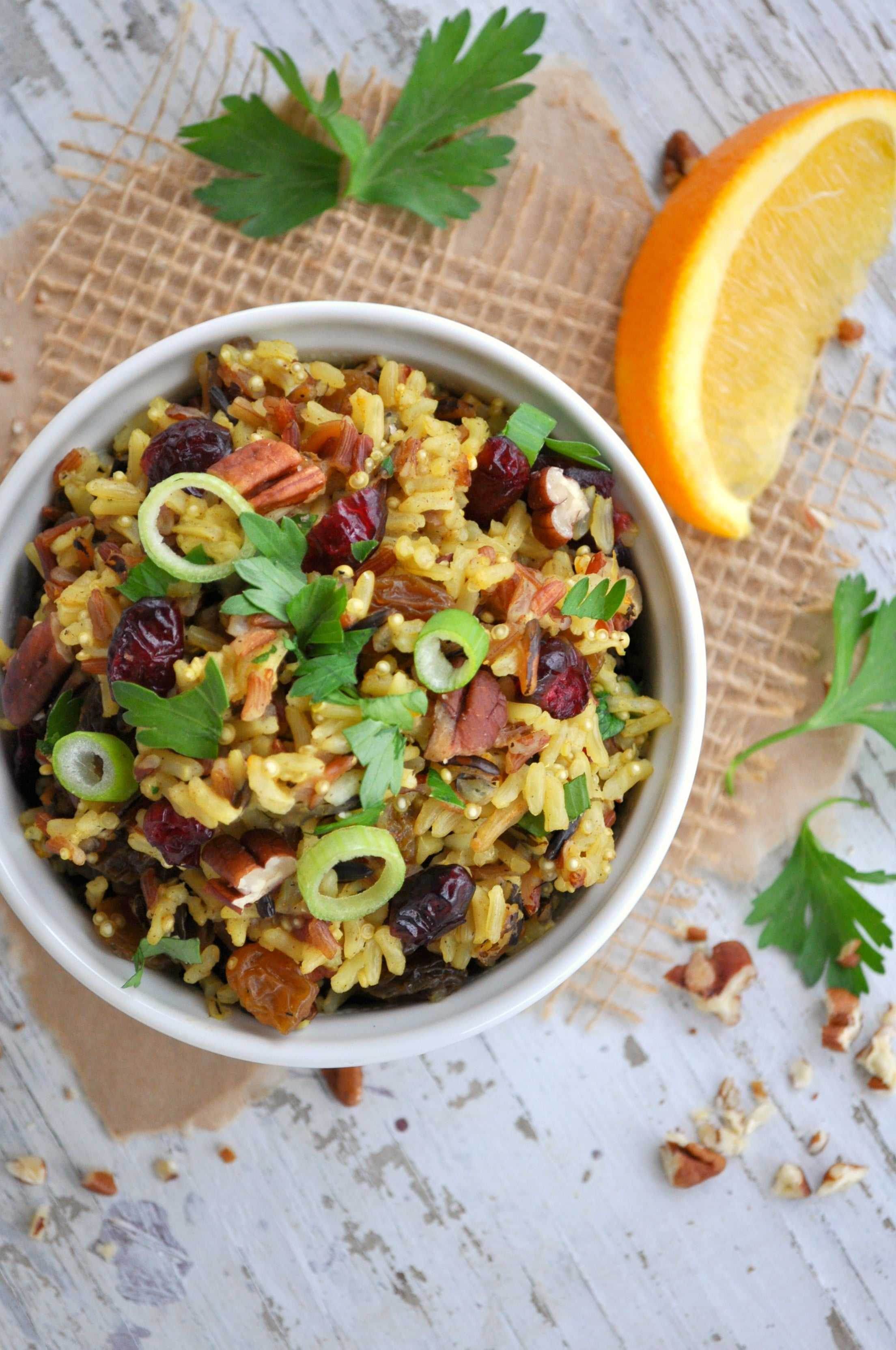 Holiday Fruited Rice with Pecans 5