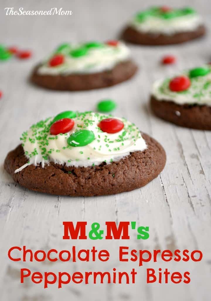 M&Ms Chocolate Espresso Peppermint Bites
