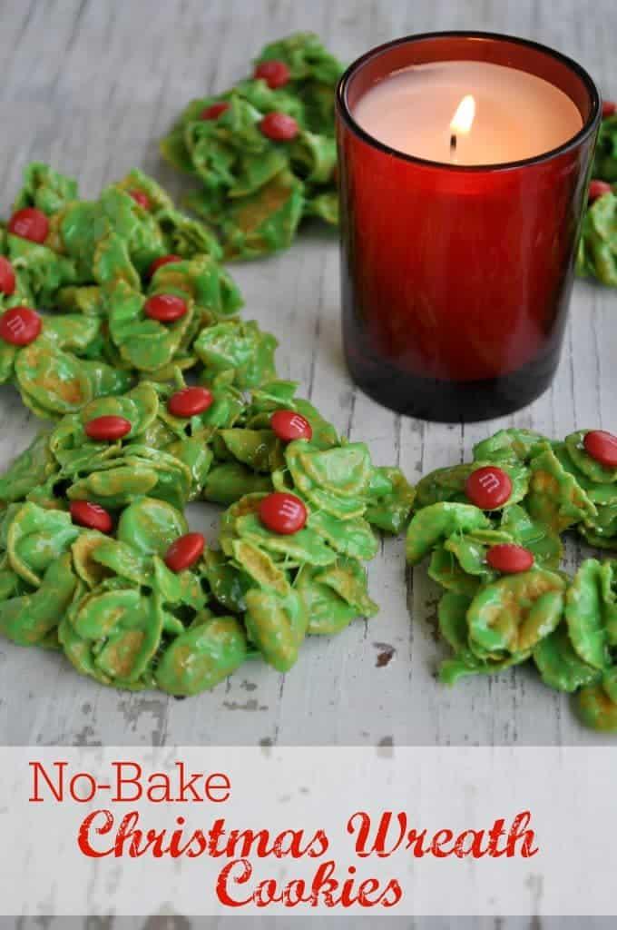 No-Bake Christmas Wreath Cookies 3