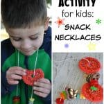 Party Activity for Kids: Snack Necklaces