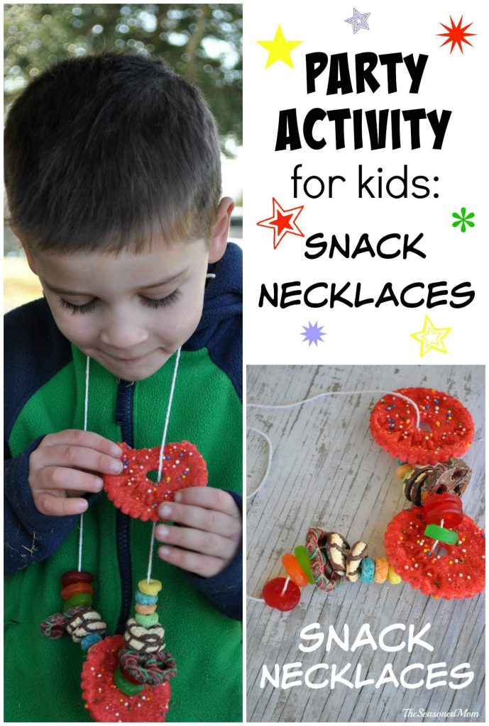 Party Activity for Kids Snack Necklaces