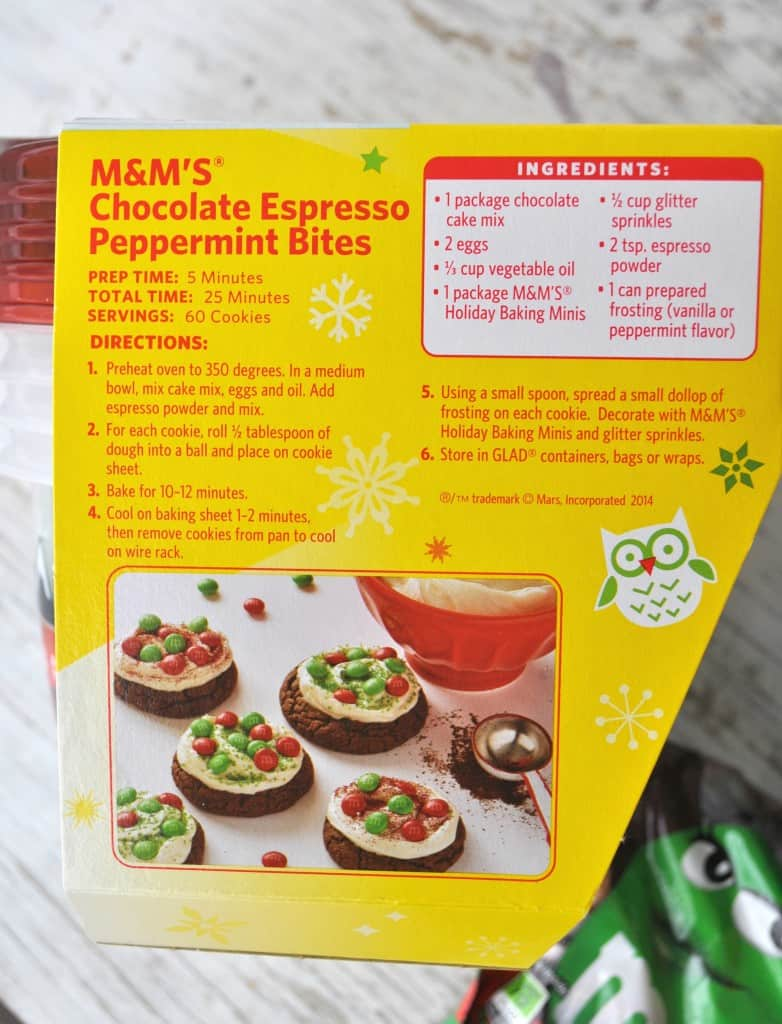 Recipe on Box