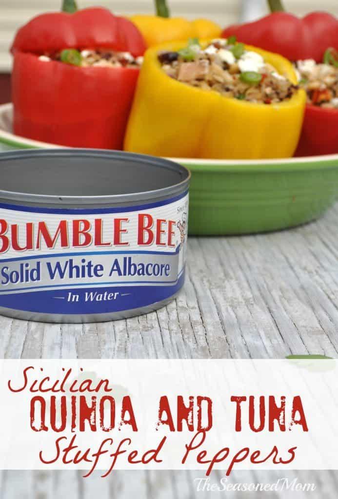 Sicilian Quinoa and Tuna Stuffed Peppers 3