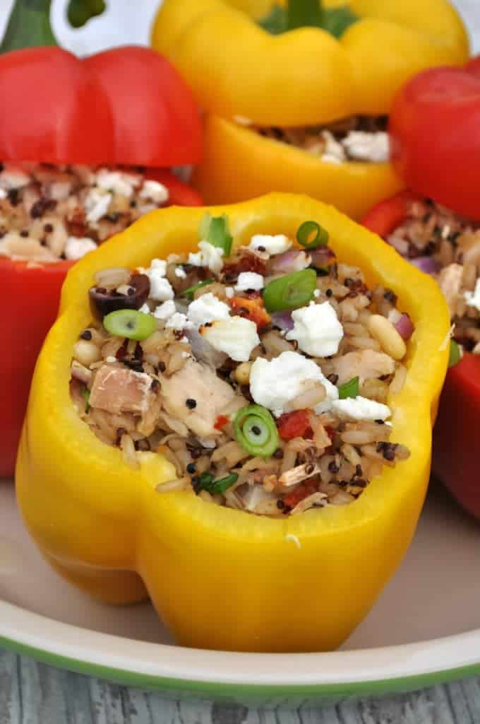 Sicilian Quinoa and Tuna Stuffed Peppers 4