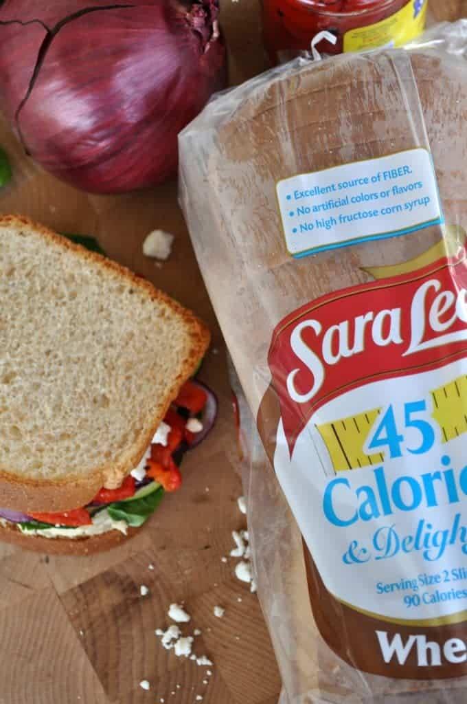 Skinny Mediterranean Roasted Vegetable Sandwich 2