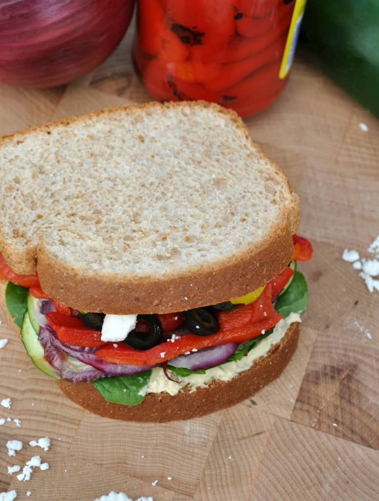 Skinny Mediterranean Roasted Vegetable Sandwich 4
