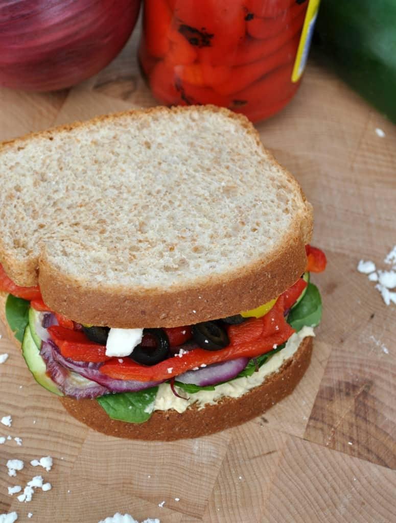 Skinny Mediterranean Roasted Vegetable Sandwich 4