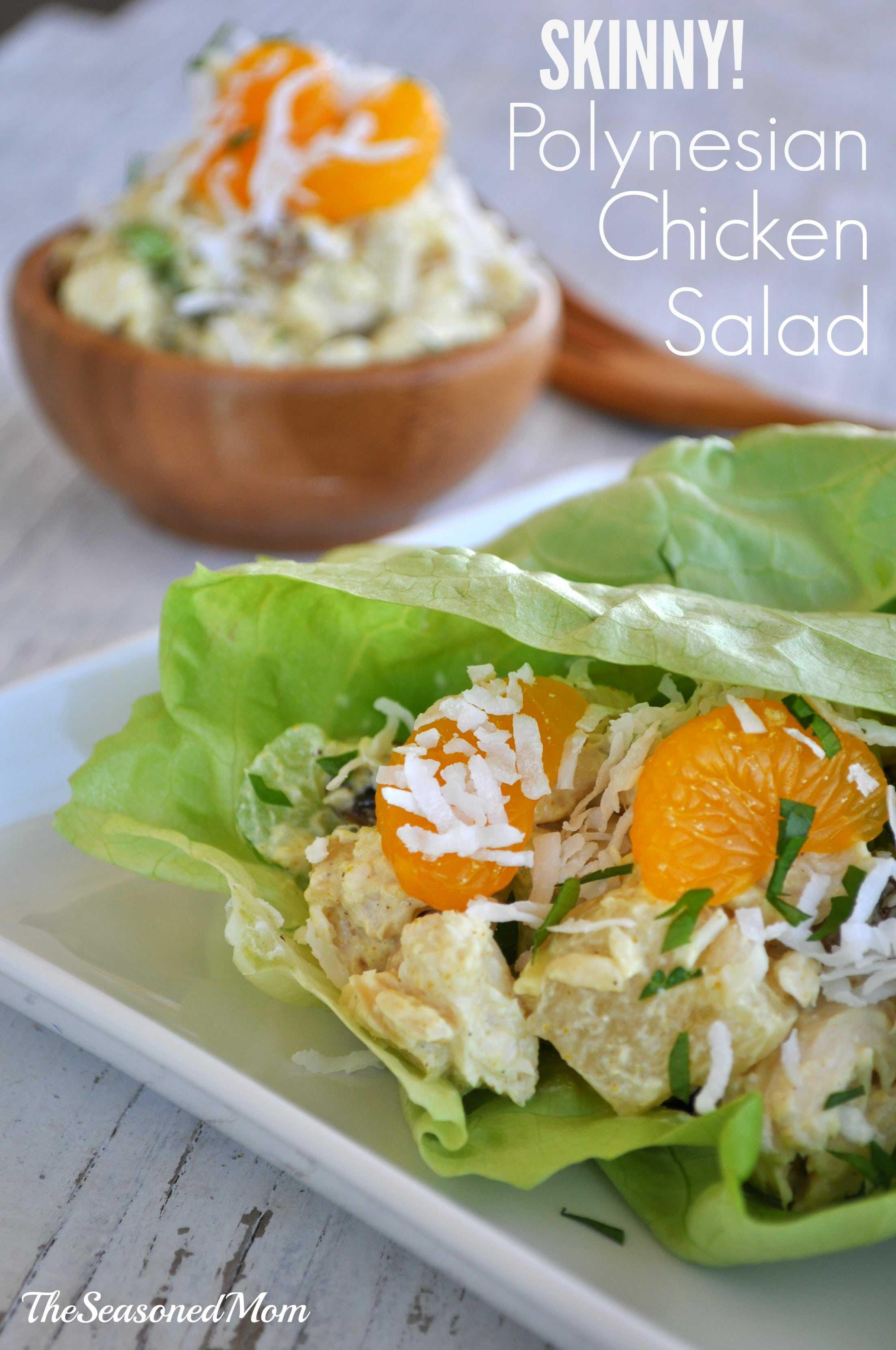 Skinny Polynesian Chicken Salad - The Seasoned Mom