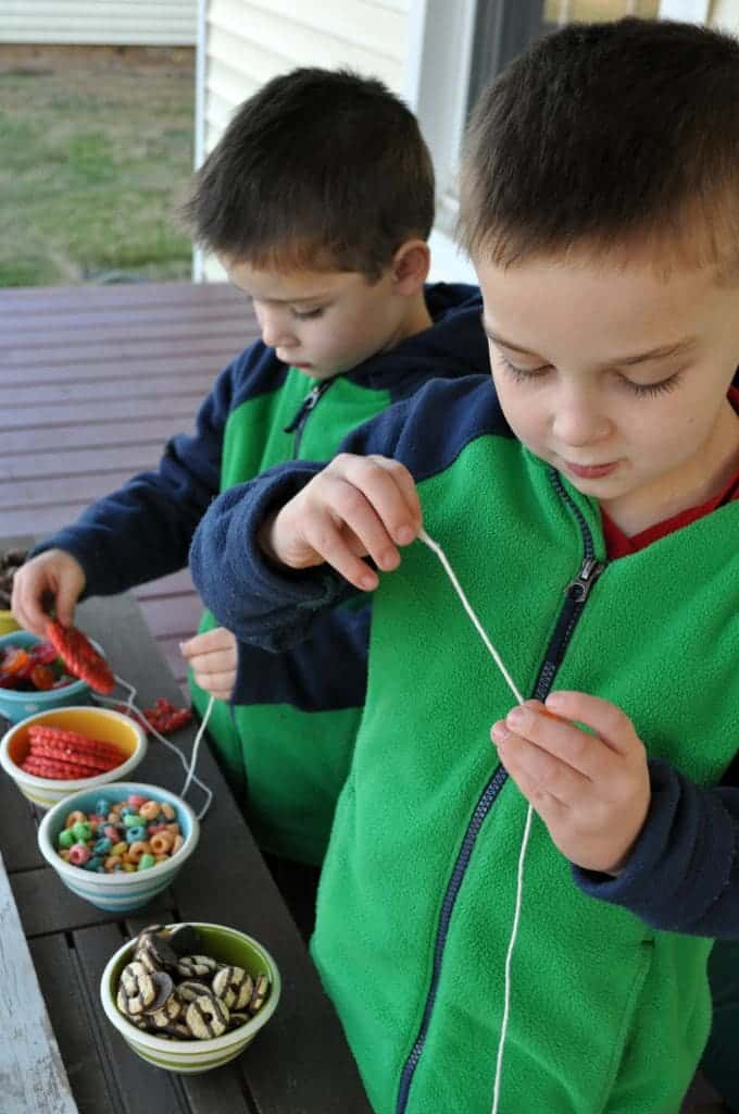 Snack Necklaces Boys Working