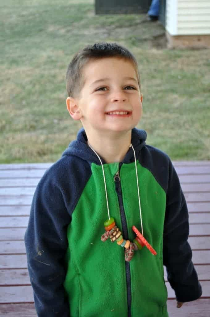 Snack Necklaces Casey Smiling