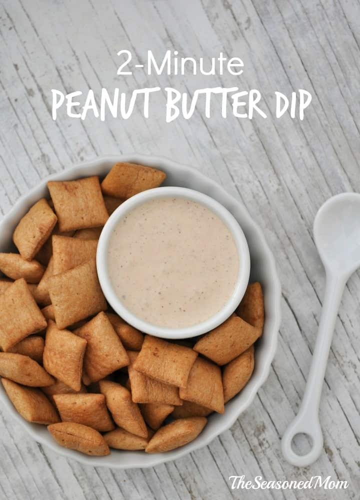 2 Minute Peanut Butter Dip 2