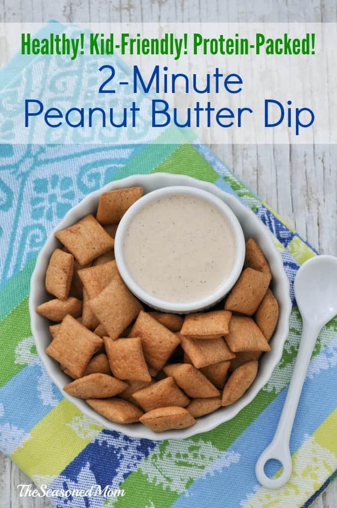 2 Minute Peanut Butter Dip