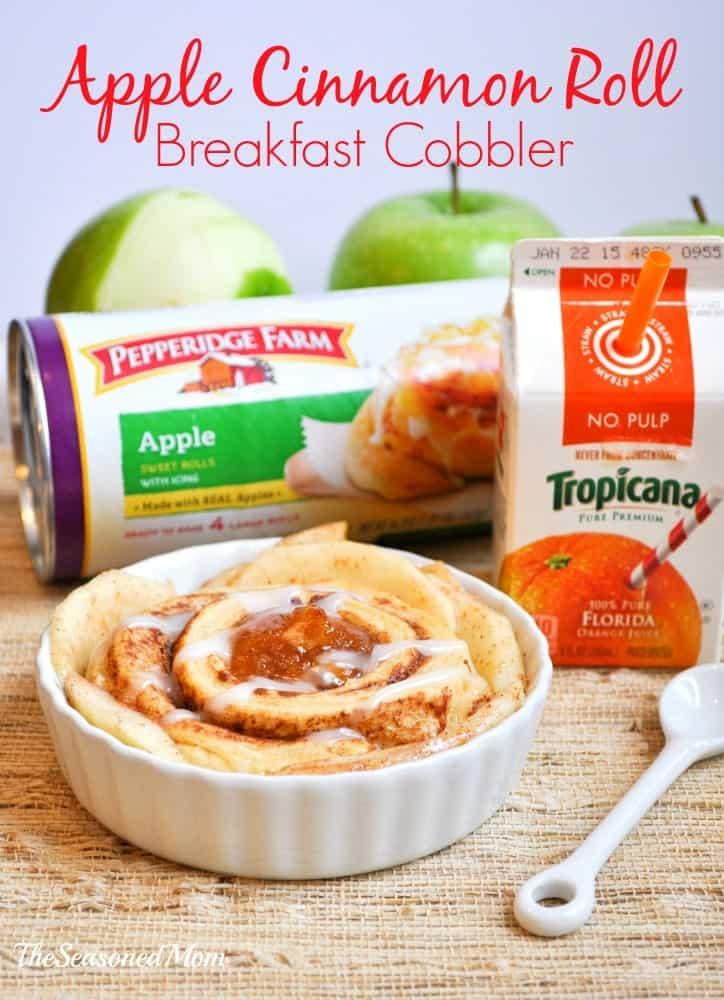 Apple Cinnamon Roll Breakfast Cobbler 13