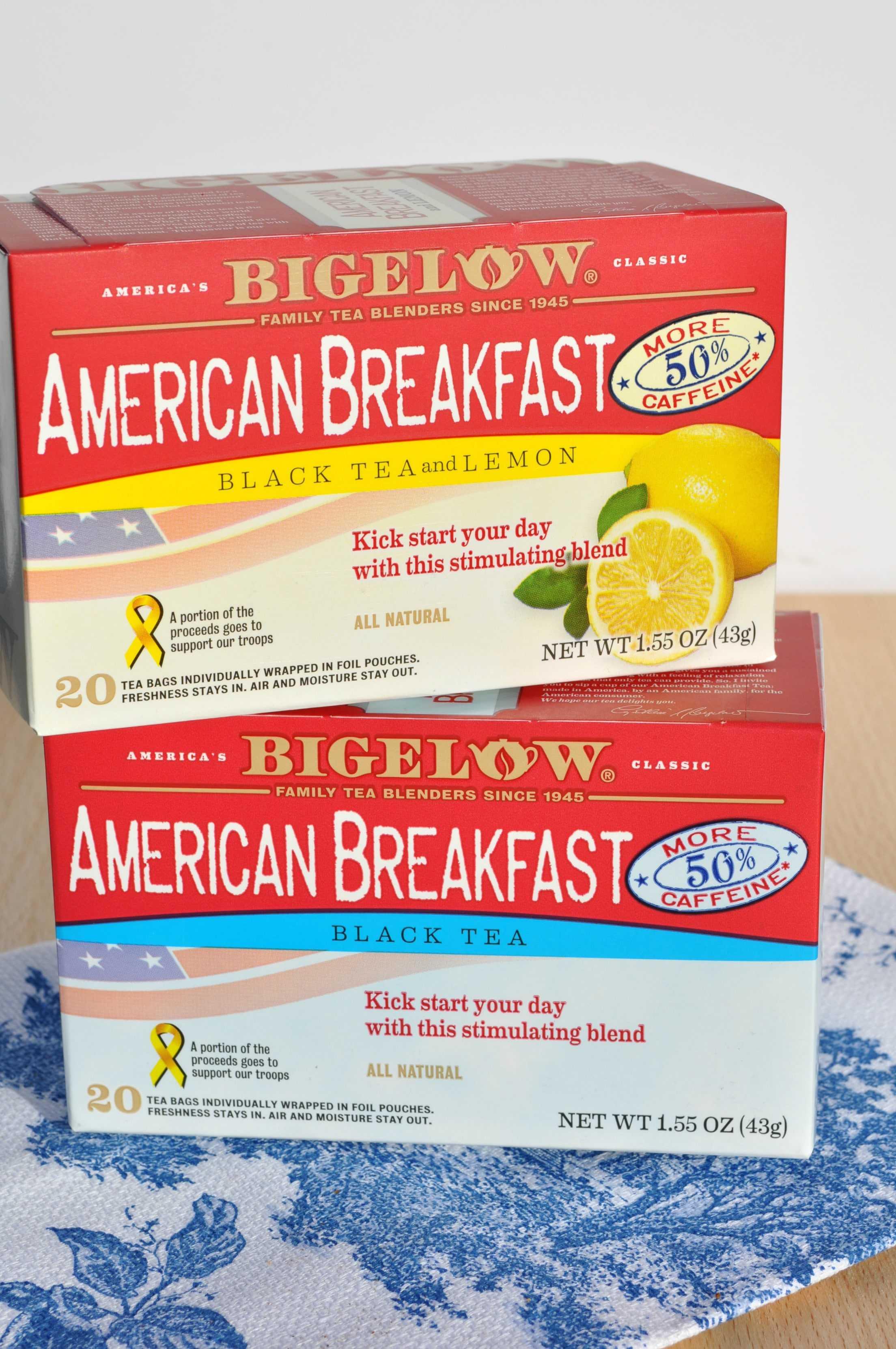 Bigelow herbal tea - Bigelow Tea Boxes