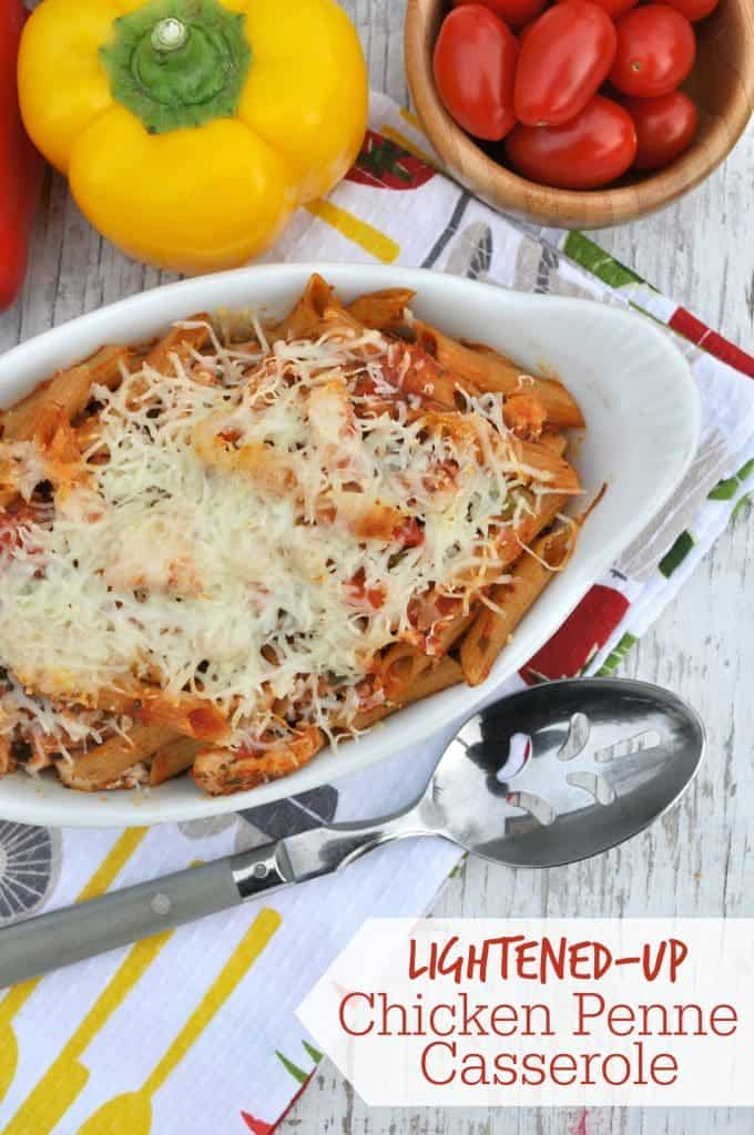This Lightened-Up Chicken Penne Casserole is a nutritious, family ...