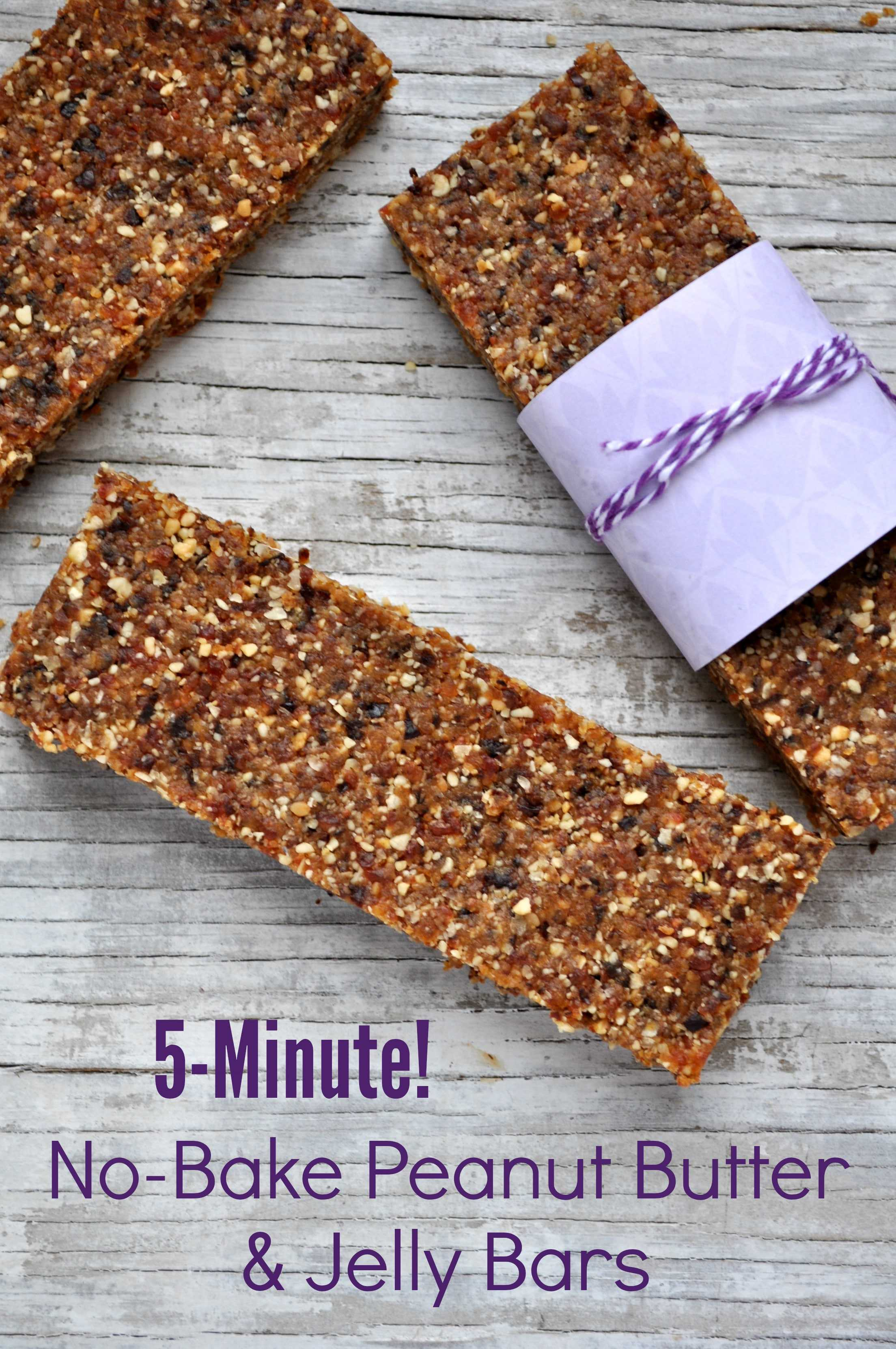 No Bake Peanut Butter and Jelly Bars 2