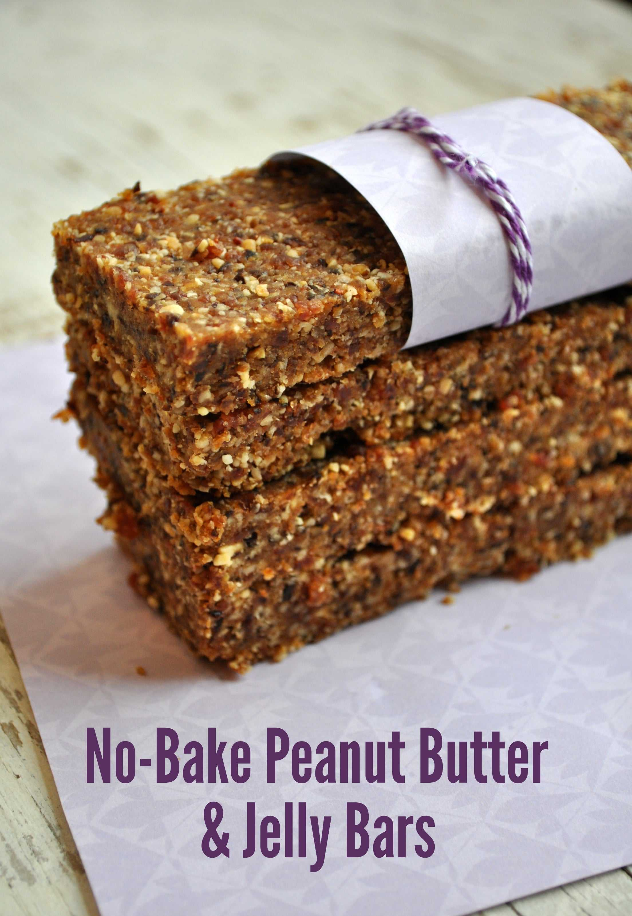 No Bake Peanut Butter and Jelly Bars 5