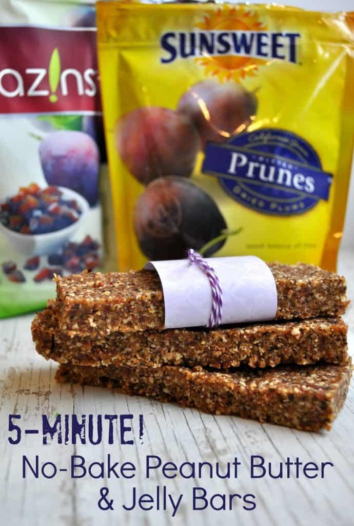 No Bake Peanut Butter and Jelly Bars