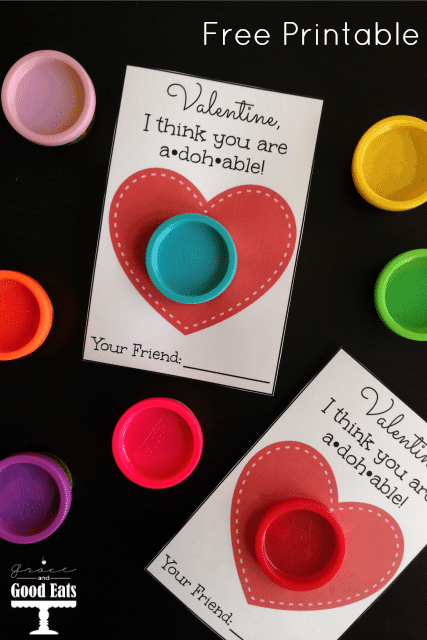 Play Doh Valentines Printable