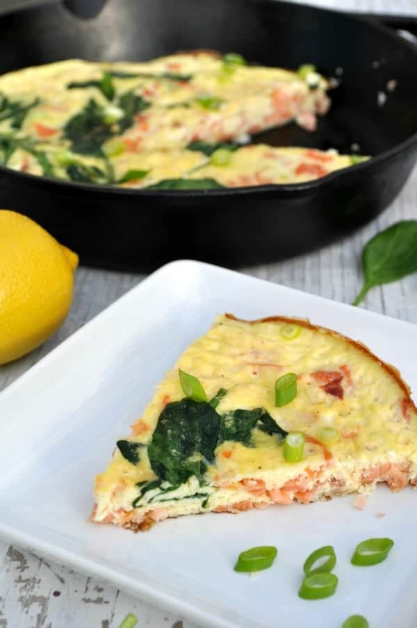 Skinny Frittata with Smoked Salmon and Spinach 2