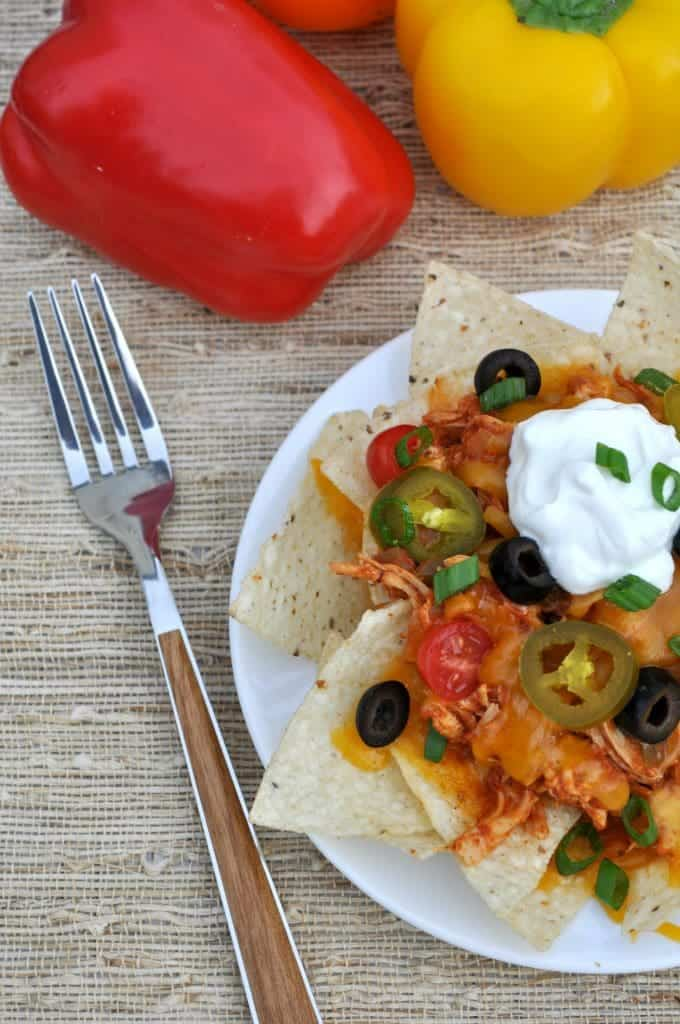 Slow Cooker Chicken Nachos 4