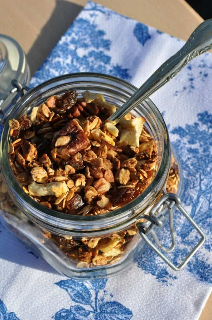 Slow Cooker Granola with Spoon 2