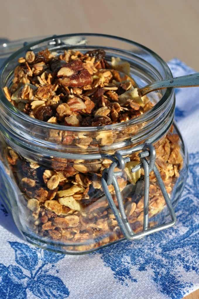 Slow Cooker Granola with Spoon