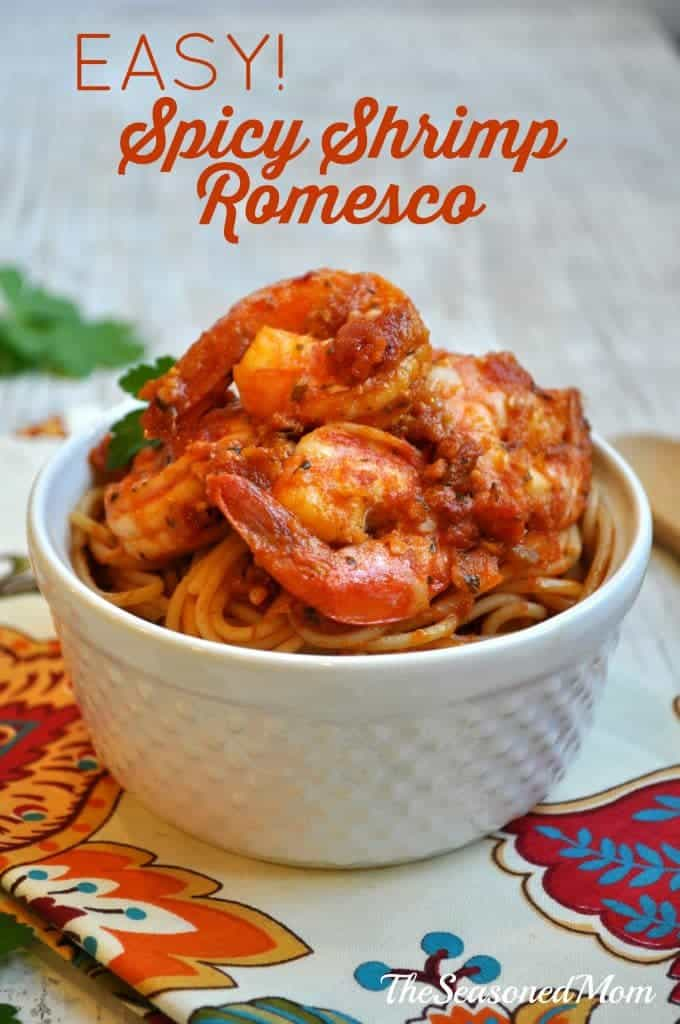 Easy Spicy Shrimp Romesco