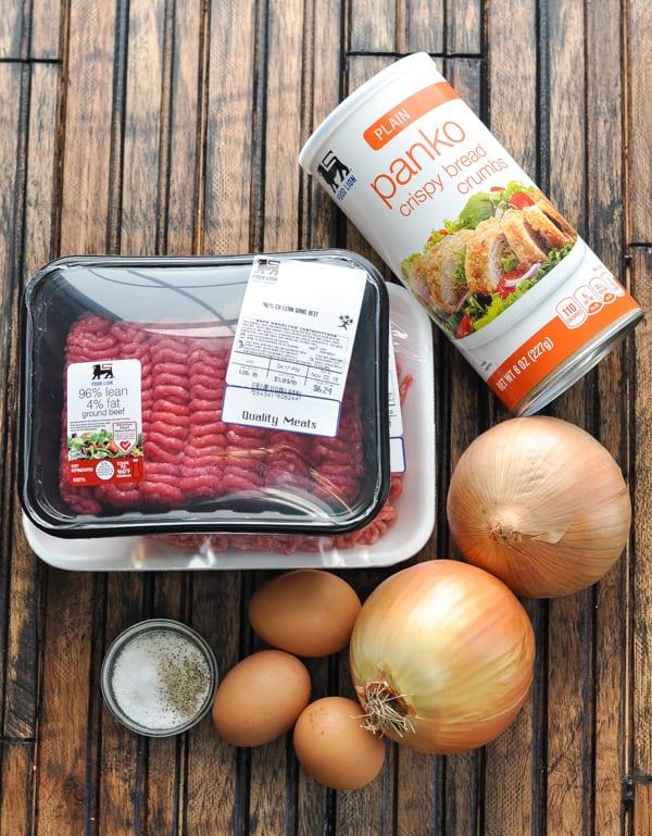 Swedish meatballs recipe ingredients