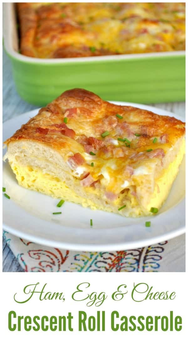 Ham Egg and Cheese Crescent Roll Casserole 1