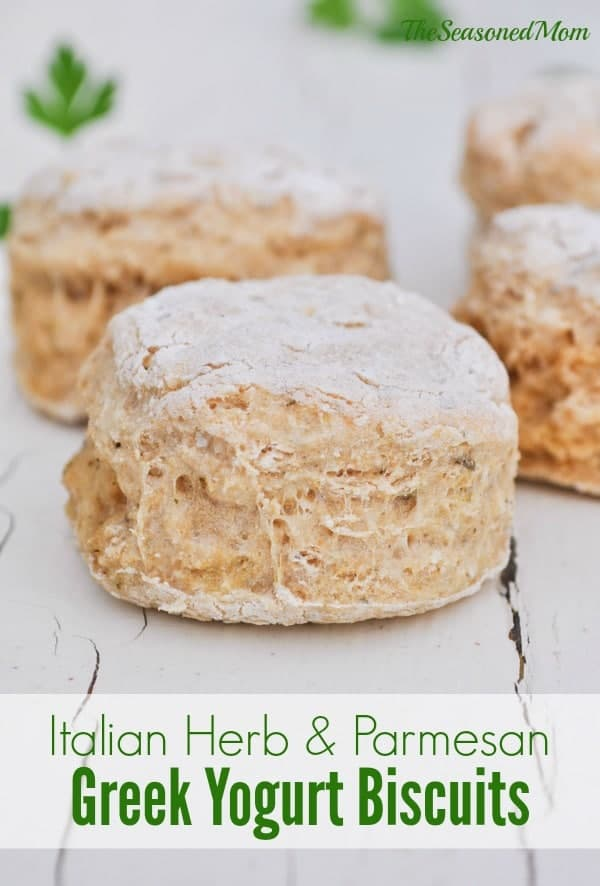Italian Herb & Parmesan Greek Yogurt Biscuits