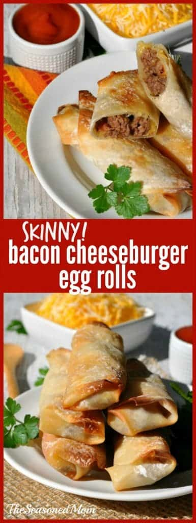 Skinny Bacon Cheeseburger Egg Rolls