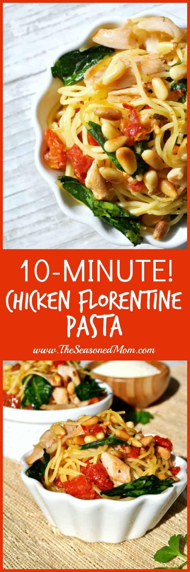 10 Minute Chicken Florentine Pasta 2