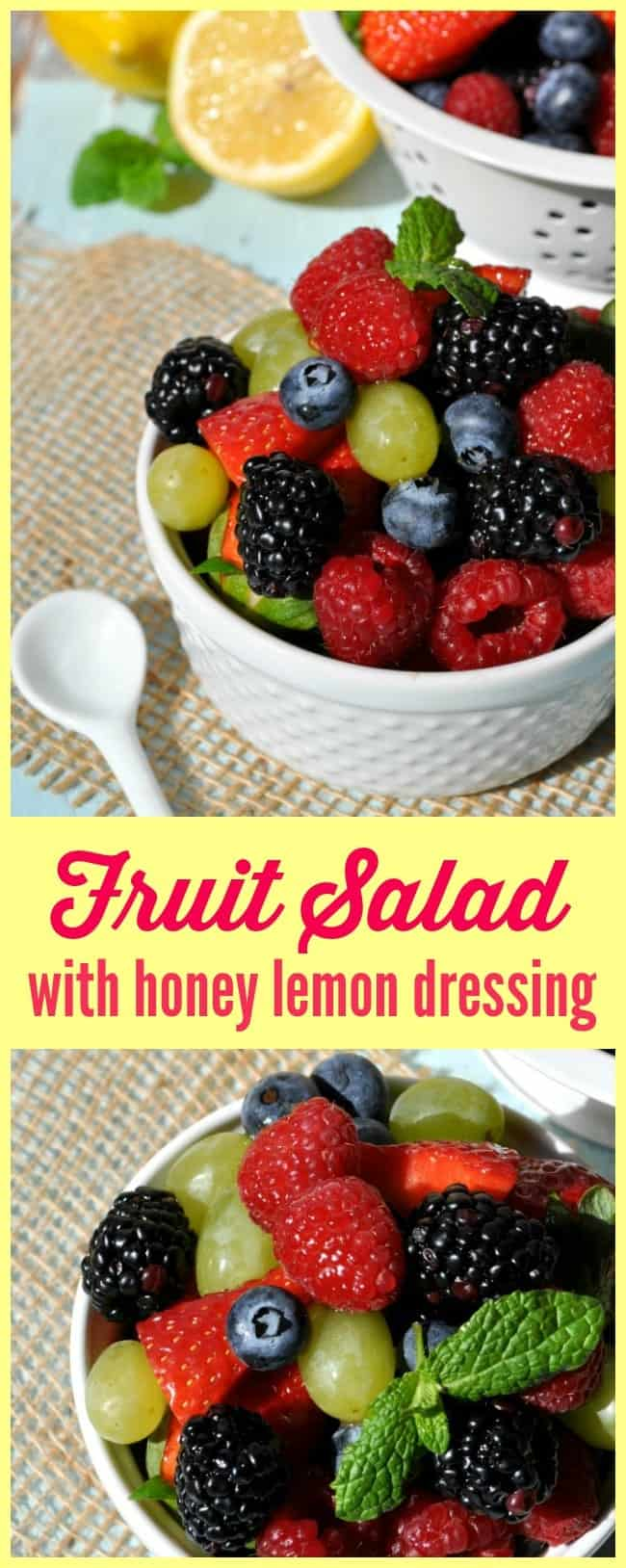 Fruit Salad with Honey Lemon Dressing
