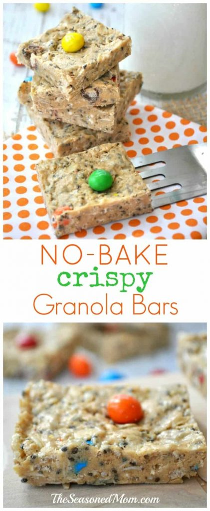 No-Bake Crispy Granola Bars