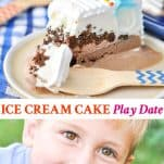 Long collage image of Ice Cream Cake Party Play Date