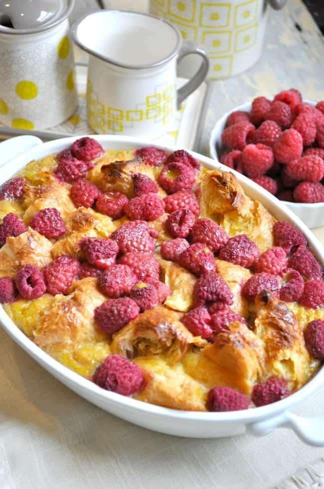Raspberry Croissant Breakfast Casserole 2