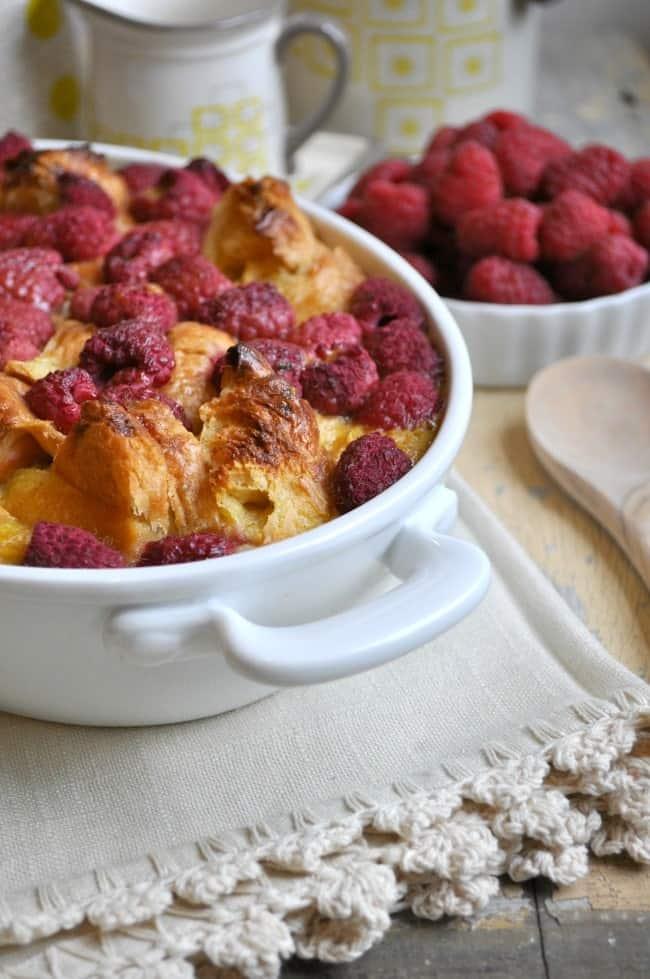 Raspberry Croissant Breakfast Casserole 3
