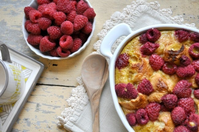 Raspberry Croissant Breakfast Casserole 6